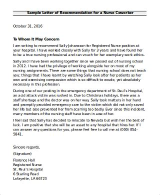 6 sle recommendation letter for coworkers sle