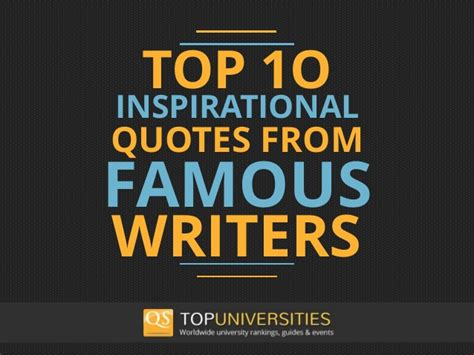10 Favorite Quotes by 10 Inspirational Quotes From Writers