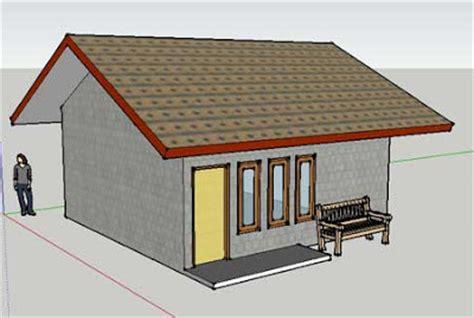 design rumah sederhana dengan sketch up untung 3 dimensi