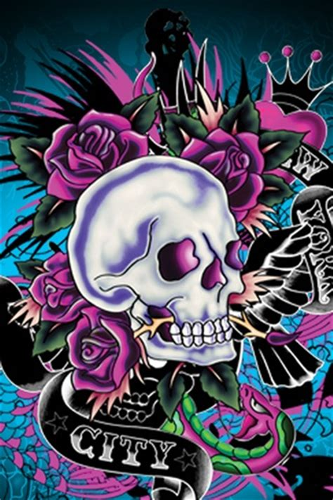 ed hardy skull tattoo designs new york snakes and on