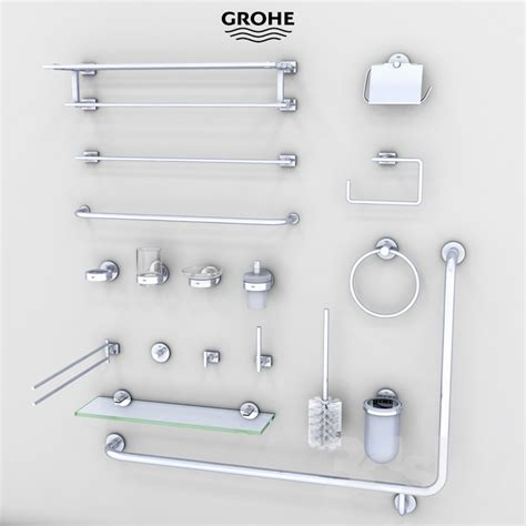 3d Models Bathroom Accessories Bathroom Accessories 3d Models Bathroom Accessories Grohe Bath Accessories
