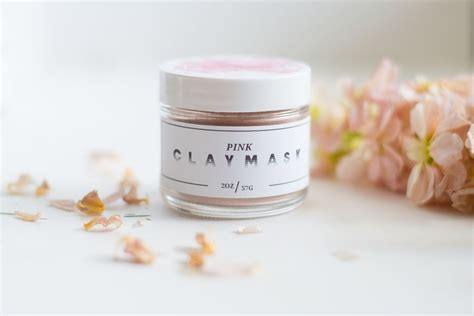 Pink Clay Mask pink clay mask lovely pinklion
