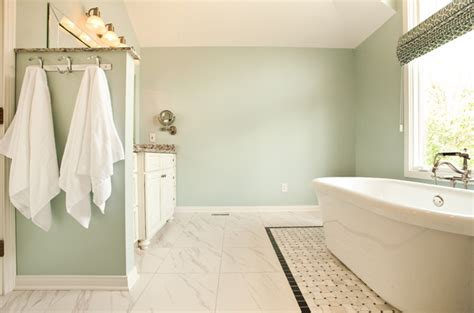 blue green paint colors transitional bathroom sherwin williams tradewind design