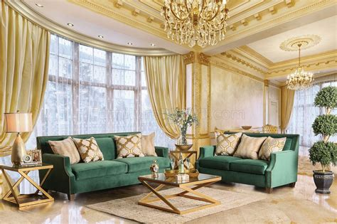 Green Living Room Furniture by Verdante Sofa Sm2271 In Emerald Green Fabric W Options