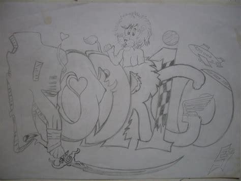 imagenes de te extraño rodrigo creando dibujando creando el nombre rodrigo