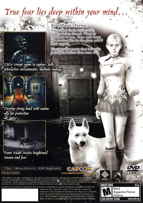 haunting ground sony playstation  game