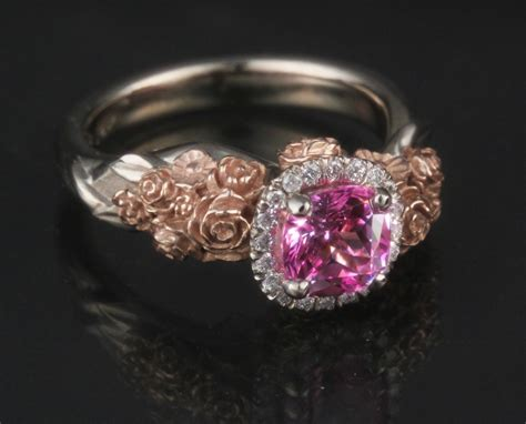flower engagement rings - Rings With Flowers