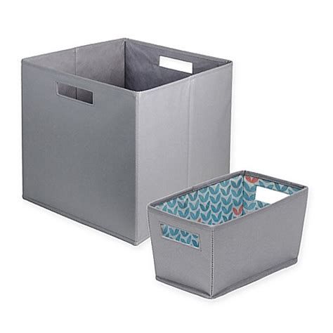 bathroom storage bins b in 174 silver sconce fabric storage bin bed bath beyond