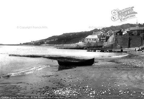 cobb gate house lyme regis lyme regis gun cliff and cobb gate from back 1890