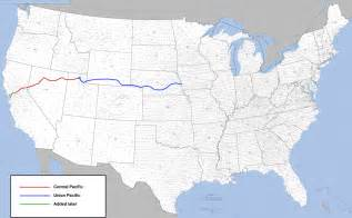 Railroad Map Of The United States by File Transcontinental Railroad Route Png Wikimedia Commons