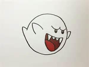 dibujando a boo fantasma de super mario drawing boo
