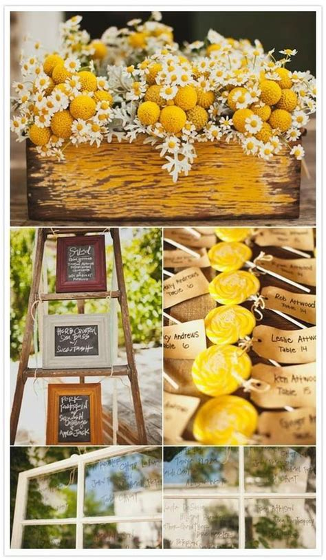yellow decor yellow wedding sunny lemon yellow wedding decor 797074