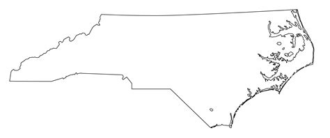 outline map of carolina nc state clipart clipart suggest