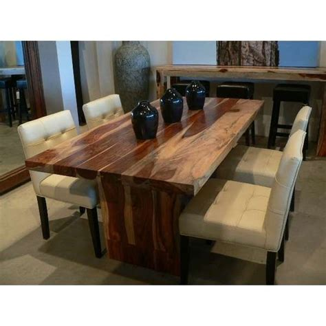 Wooden Top Dining Table Solid Wood Dining Table With Simple Solid Wood Decor Homes Home Decor Interior Design
