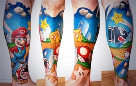 awesome mario tattoo 90kids com childhood nostalgia