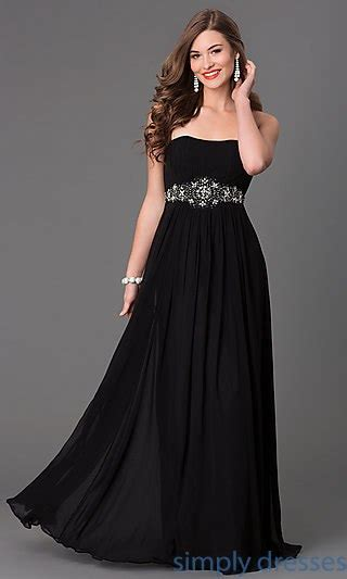 Black Sweet Style Dress N0264 strapless dresses strapless prom dresses gowns