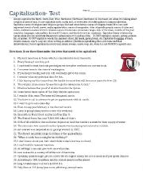 printable capitalization quiz capitalization worksheets pdf worksheets releaseboard