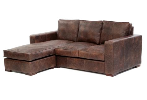 leather corner sofa with chaise battersea chaise end medium leather corner sofa from old
