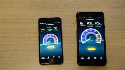 iphone 6 vs iphone 7 plus lte and wifi network speedtest comparison