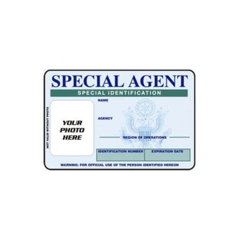 Special Id Card Template by Fbi Special Id Card