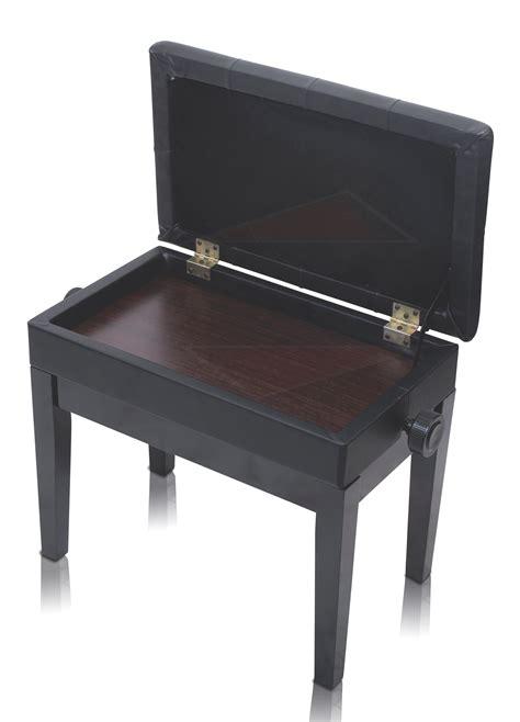 piano bench leather black piano bench ebony wood keyboard wood seat storage adjustable ebay