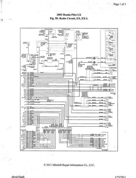2005 honda pilot ex l ex radio wiring diagram 2005