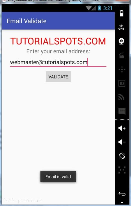 validation pattern android android how to check a valid email address free online