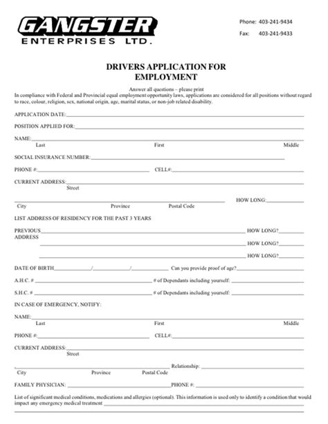 free truck driver application template truck driver application 70 images driver 39 s