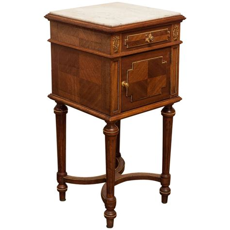 marble top bedside table directoire style marble top bedside table for sale