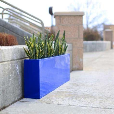 Narrow Plant Pots Contemporary Planter Box Fiberglass 54 Quot L X 8 Quot W X 18 Quot H