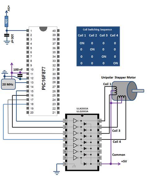 bipolar stepper motor circuit diagram bipolar