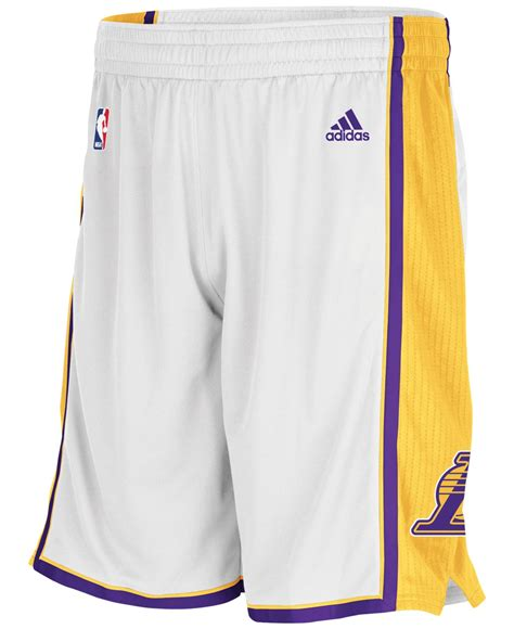Dress Adidas Los lyst adidas s los angeles lakers 3g swingman shorts in white for