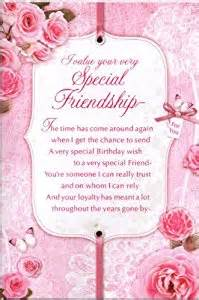 special friend birthday verses for cards friend birthday card i value your special