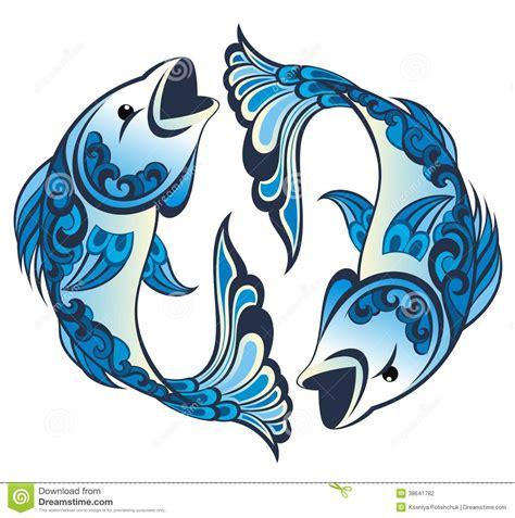 segni dello zodiaco pesci illustrazione vettoriale