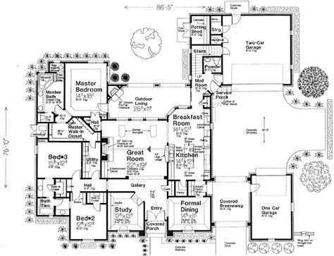 Monsterhouse Plans | european style house plans 2957 square foot home 1 story 3 bedroom and 2 bath 3 garage