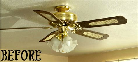 brass ceiling fans brass ceiling fan makeover orc salvage and mister