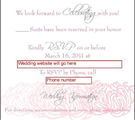 Online RSVP ? what do you think of the wording