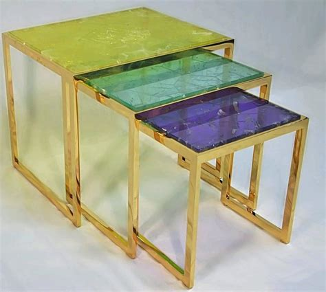 Quartz Side Table Hyaline Yellow Quartz Side Table By Giuliano Tincani Made In Italy For Sale At 1stdibs