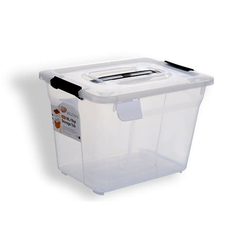 ezy storage solutions 18l storage tub bunnings warehouse