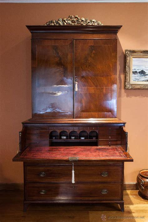 escritorios antiguos en venta mueble secreter librer 237 a ingl 233 s madera comprar