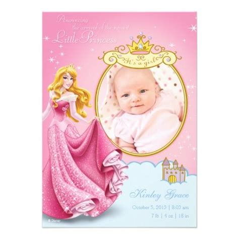 Disney Princess Baby Shower by Disney Princess Birth Announcement Baby Shower