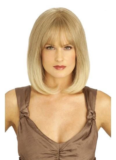 sweet shoulder length flip platinum lace front wig for a human hair wigs