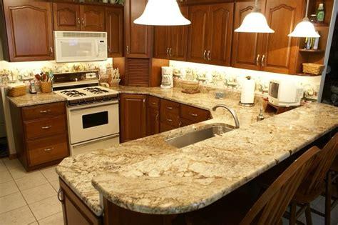 Red Kitchen Tile Backsplash Kitchen In Sienna Bordeaux Granite Our Beautiful Work