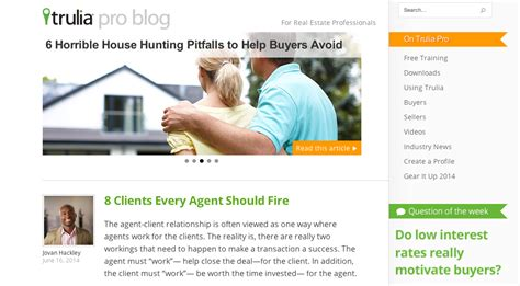 trulia blog 17 essential real estate blogs for agents and brokers