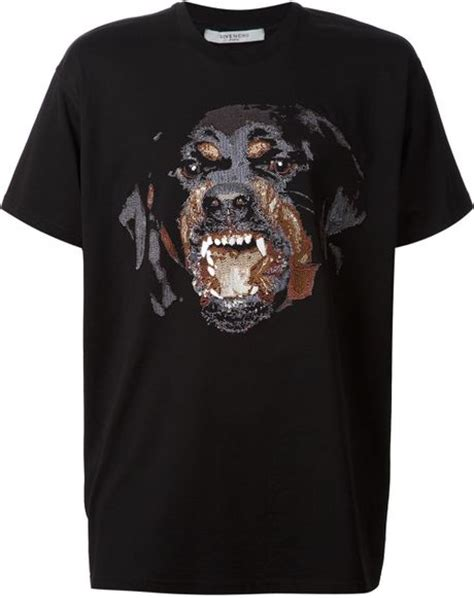 givenchy black rottweiler shirt givenchy rottweiler print t shirt in black for null lyst