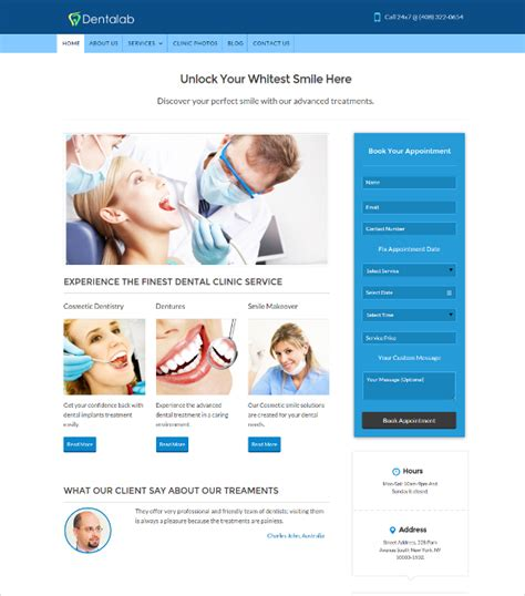 dental template 36 dental website themes templates free premium