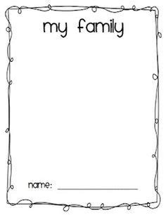 best photos of preschool house template my family in my family drawing print out newcomer curriculum