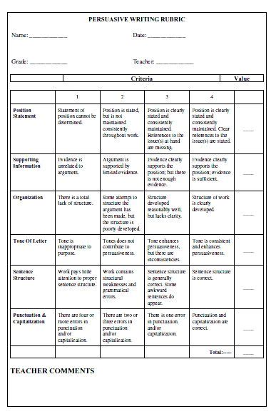 Persuasive Essay Writing Rubric by 51 Best Images About Rubric On Biography Project Assessment And Student