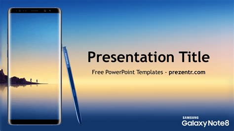 free samsung galaxy note 8 powerpoint template prezentr