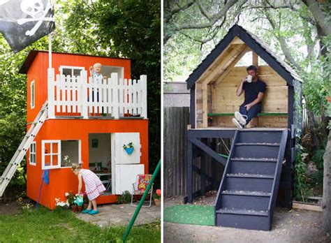 kids play houses woodwork easy wooden playhouse for kids pdf plans
